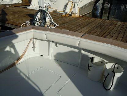 Cocpit bolsters on the boat